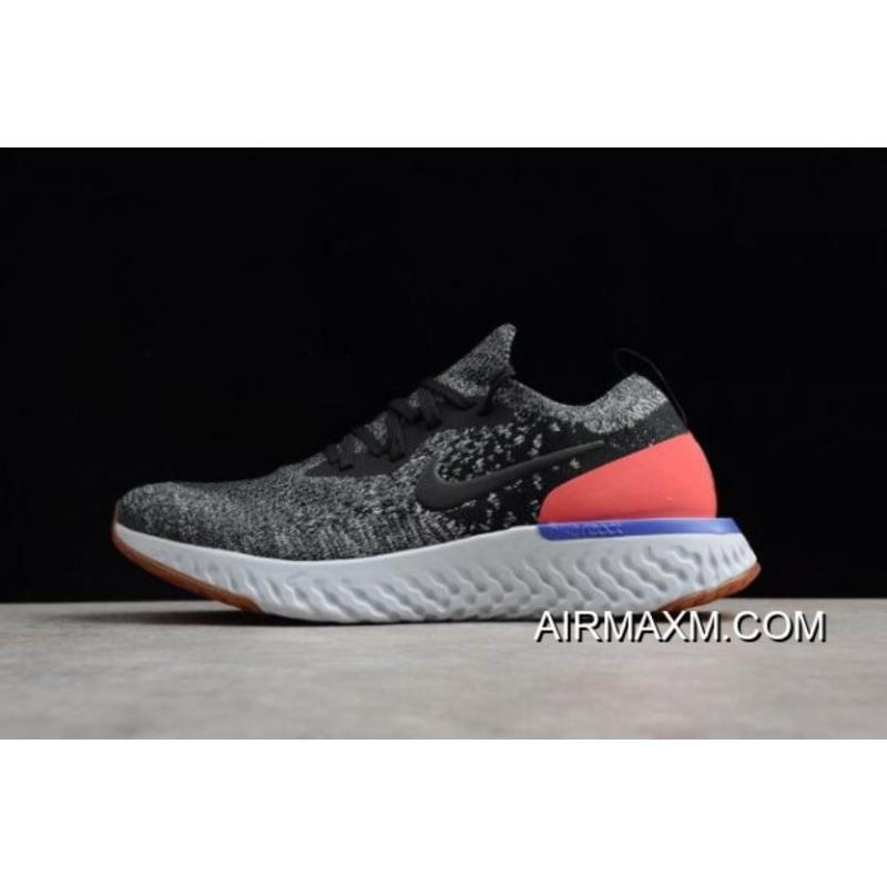 "91d37d69858 Nike Epic React Flyknit ""Hyper Crimson"" Black White Hyper Crimson Men s  Running ..."