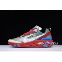 Women/Men Undercover X Nike Epic React Element 87 Red/Green/Blue AQ1813-339 New Style