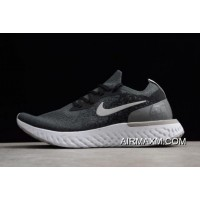Nike Epic React Flyknit Black And Gery Printing Men's And Women's Size Running Shoes Discount