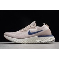 Tax Free Nike Epic React Diffused Taupe/Blue Void Running Shoes AQ0067-201