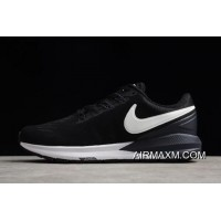 Free Shipping Nike Air Zoom Structure 22 Black/White-Gridiron AA1636-002