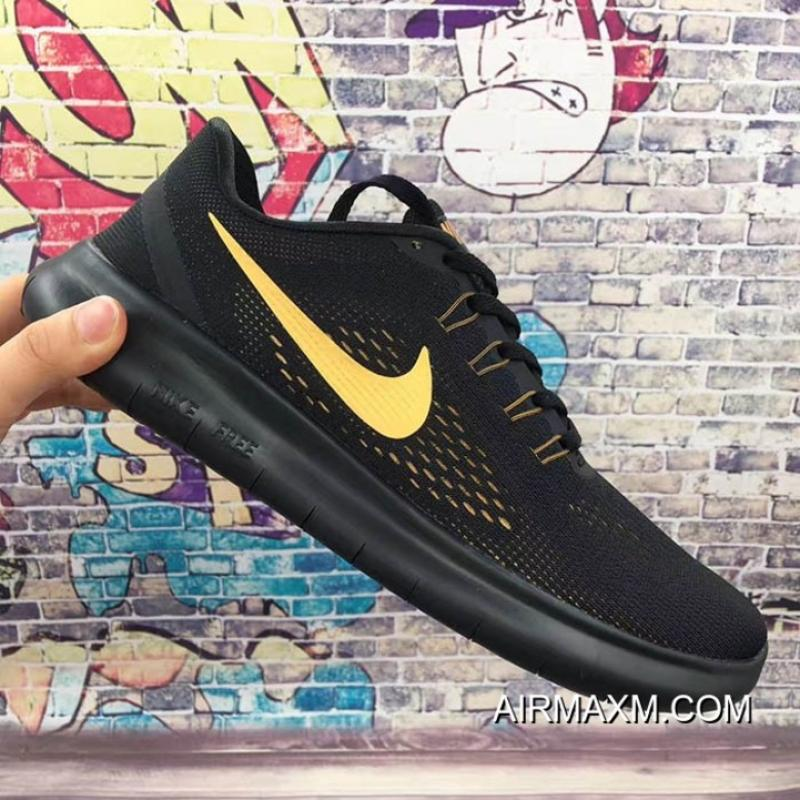 8cb5b430a638 ... Nike Free RN Black Golden Free Shipping ...