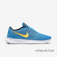 New Release Nike Free RN Light Blue Yellow White