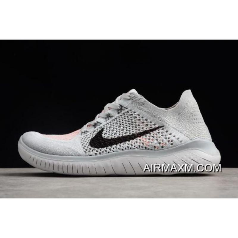 new style 92d3f 2426e Men s Nike Free Run Flyknit 2018 Pure Platinum Black-White Running Shoes  942838- ...