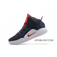"Free Shipping Nike Hyperdunk X ""USA"" Navy Blue/Red-White AO7893-400"