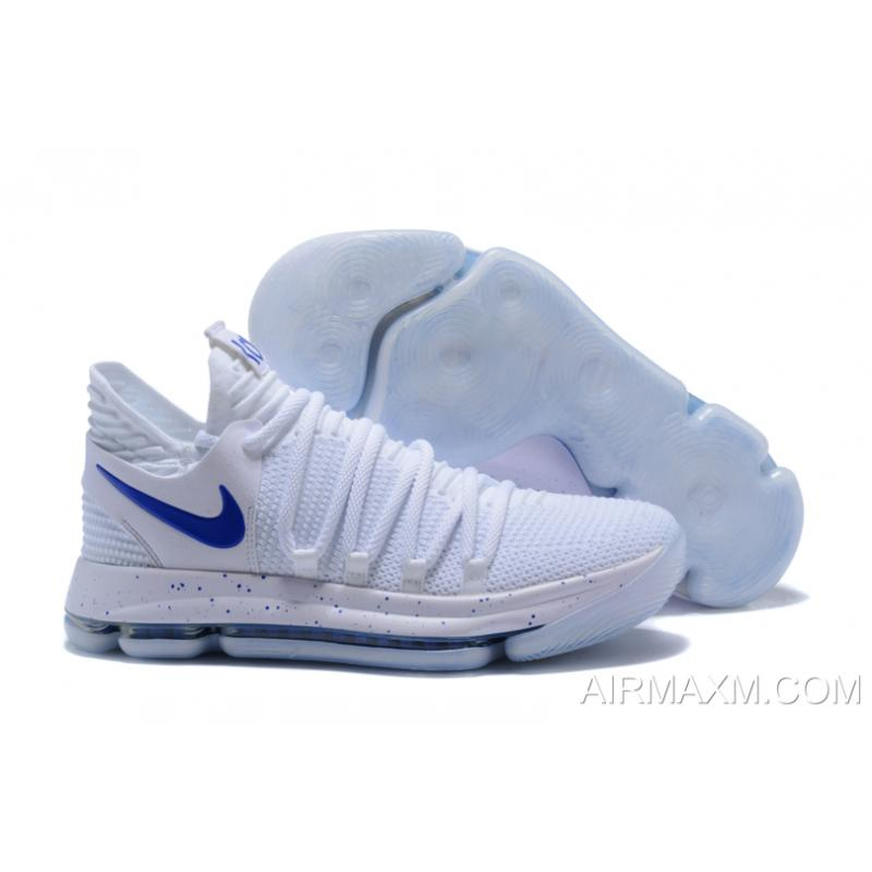 new products 7e888 cb223 For Sale Nike KD 10 White Blue ...