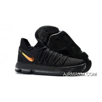 "Nike KD 10 ""PK80″ Black/Metallic Gold For Sale"