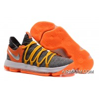 Tax Free Nike KD 10 EP Cool Grey Orange