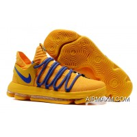 Authentic Nike KD 10 Warrior Yellow Blue
