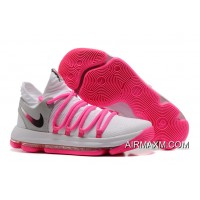 Nike KD 10 White Pink Grey New Year Deals