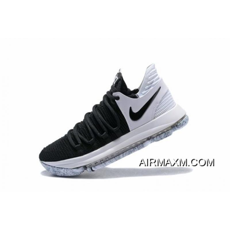 "huge selection of 24dc4 b46cd Buy Now Nike KD 10 ""Black/White"" Men's Basketball Shoes 897815-008"