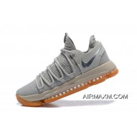 Nike KD 10 Pale Grey/Light Bone-Gum Men's Basketball Shoes 897817-001 Best