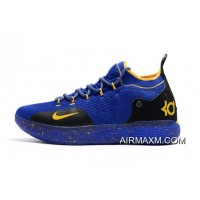 New Style Kevin Durant's New Nike KD 11 Purple Black Yellow Basketball Shoes