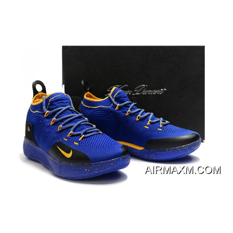 2e992956de7 ... New Style Kevin Durant s New Nike KD 11 Purple Black Yellow Basketball  Shoes ...