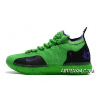 For Sale Kevin Durant's Nike KD 11 Green/Black-Purple