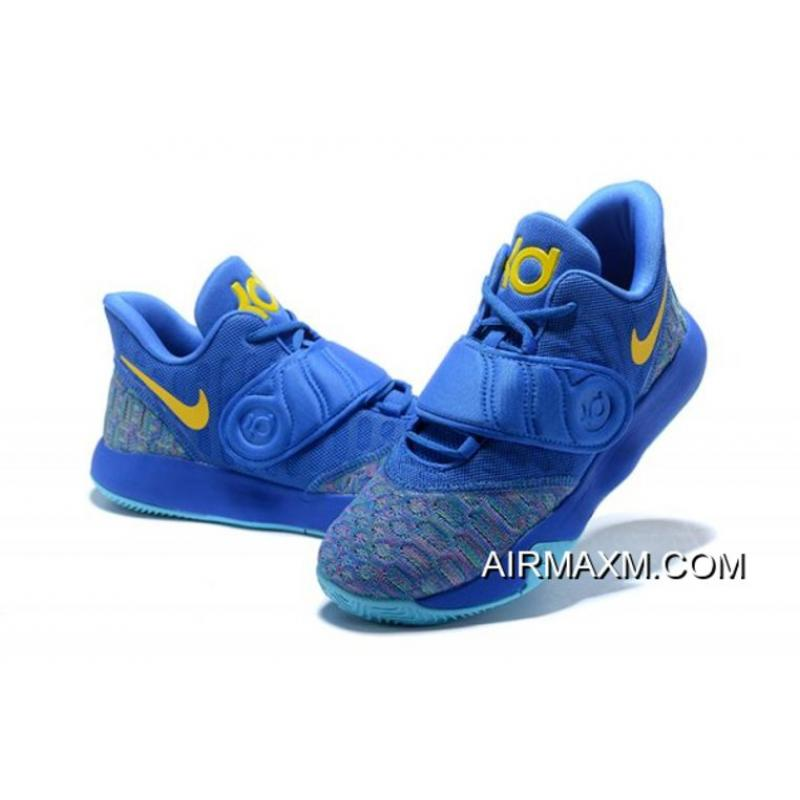 49c00ef28a93 Authentic Nike KD Trey 5 VI Signal Blue Yellow Men s Basketball Shoes ...
