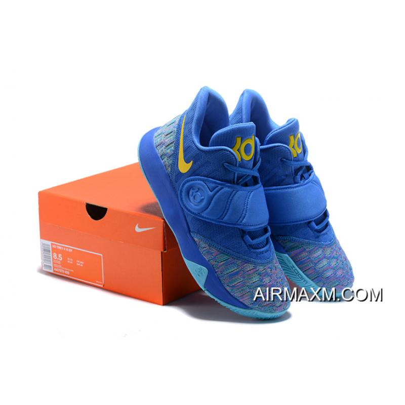 9aee471476d4 ... Authentic Nike KD Trey 5 VI Signal Blue Yellow Men s Basketball Shoes  ...