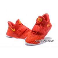Latest Nike KD Trey 5 VI University Red/Yellow Men's Basketball Shoes