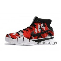 """Undefeated X Nike Kobe 1 Protro """"Camo"""" Black/Red-White For Sale"""