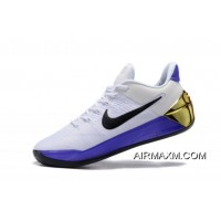 "Discount Nike Kobe A.D. ""81 Points"" White/Purple-Black-Metallic Gold Free Shipping"