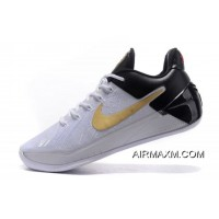 "Nike Kobe A.D. ""BHM"" White/Black-Metallic Gold Free Shipping New Style"