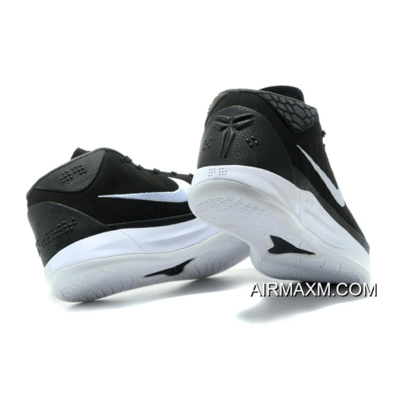 7c96976f976 ... Nike Kobe A.D. Mid Black White Men s Basketball Shoes Free Shipping New  Release ...