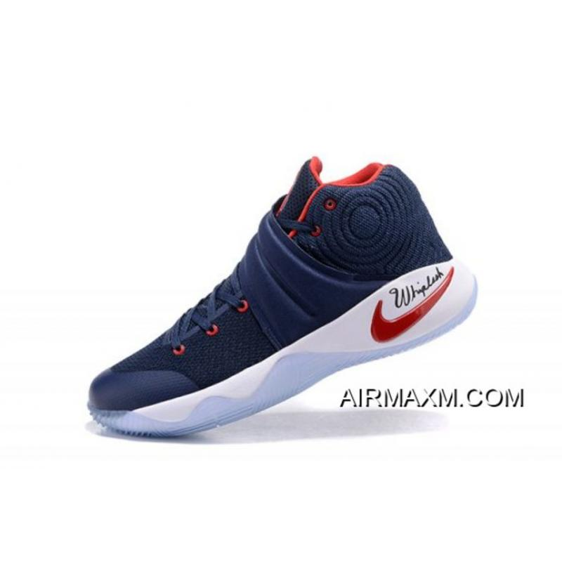 buy online 479a9 118d0 Nike Kyrie 2 Navy Blue Red-White New Release ...