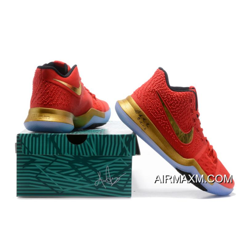 0079d85170d ... Kyrie Irving Nike Kyrie 3 Red Metallic Gold-Black Basketball Shoes Hot  Sale Where ...