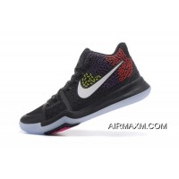 Colorful Nike Kyrie 3 Black/Red/Purple/Yellow Men's Basketball Shoes Tax Free