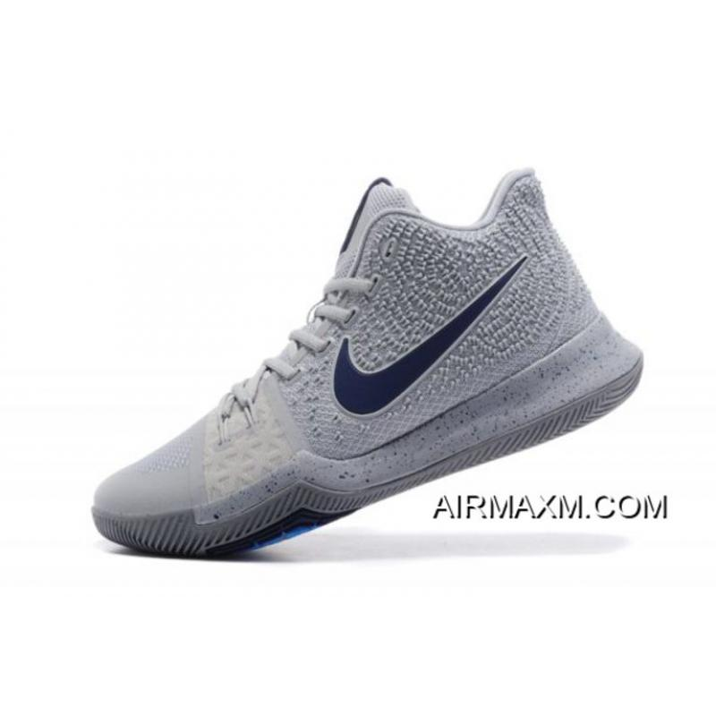 best sneakers d2aad ea9ff Men's Nike Kyrie 3 Cool Grey/Anthracite-Polarized Blue Basketball Shoes  852395-001 New Release