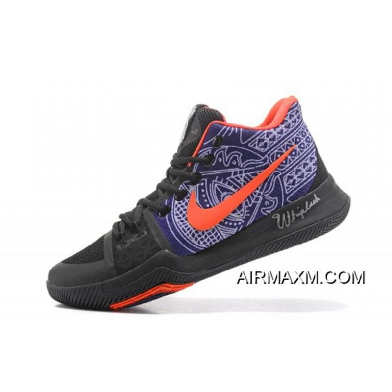"""bce09cfc Newest Nike Kyrie 3 Kyrie Irving's """"Hamsa Hand"""" Tattoo Men's Basketball  Shoes Online ..."""