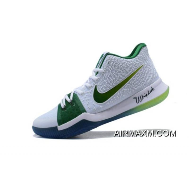 "outlet store e4c92 6d142 Where To Buy Men s Nike Kyrie 3 ""Boston Celtics"" PE Kyrie Irving Basketball  Shoes ..."