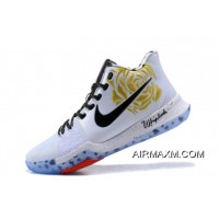 """New Year Deals Sneaker Room X Nike Kyrie 3 """"Mom"""" Gold Rose Men's Basketball Shoes"""