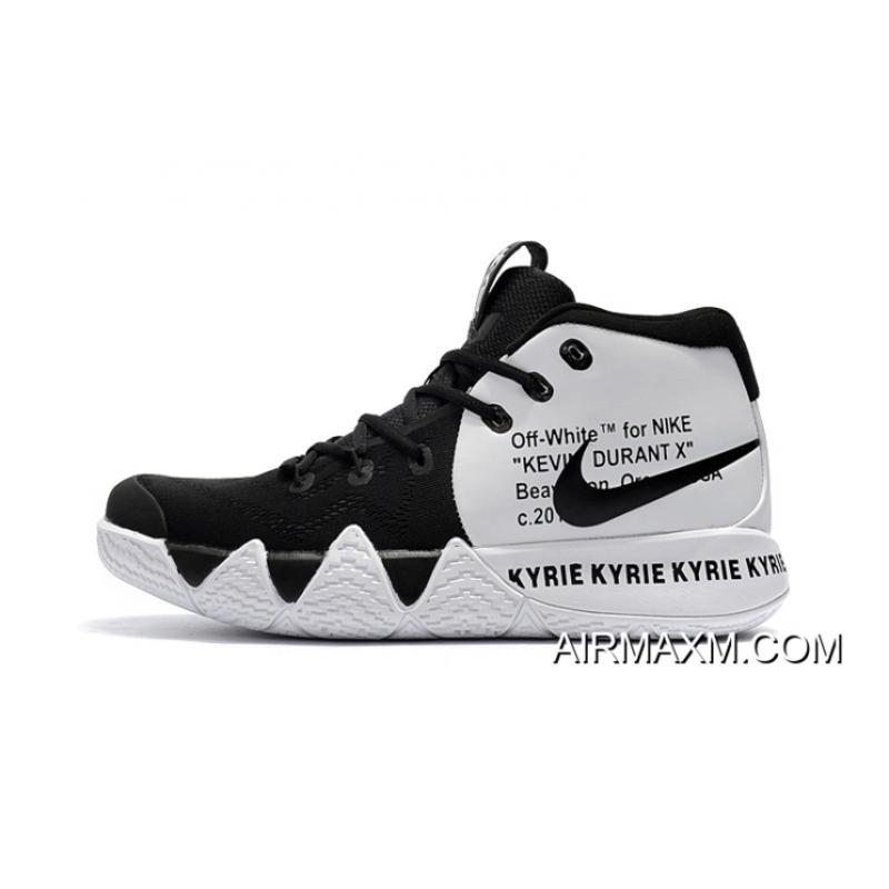 huge discount 953f1 f0a02 ... Off-White X Nike Kyrie 4 Black White For Sale ...