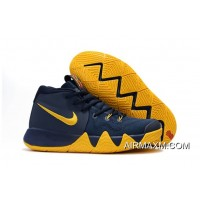 """Nike Kyrie 4 """"Cavs"""" Midnight Navy/Yellow New Year Deals"""