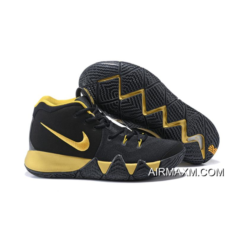 cheap for discount 511d9 db1a1 New Year Deals Nike Kyrie 4 Black Gold ...