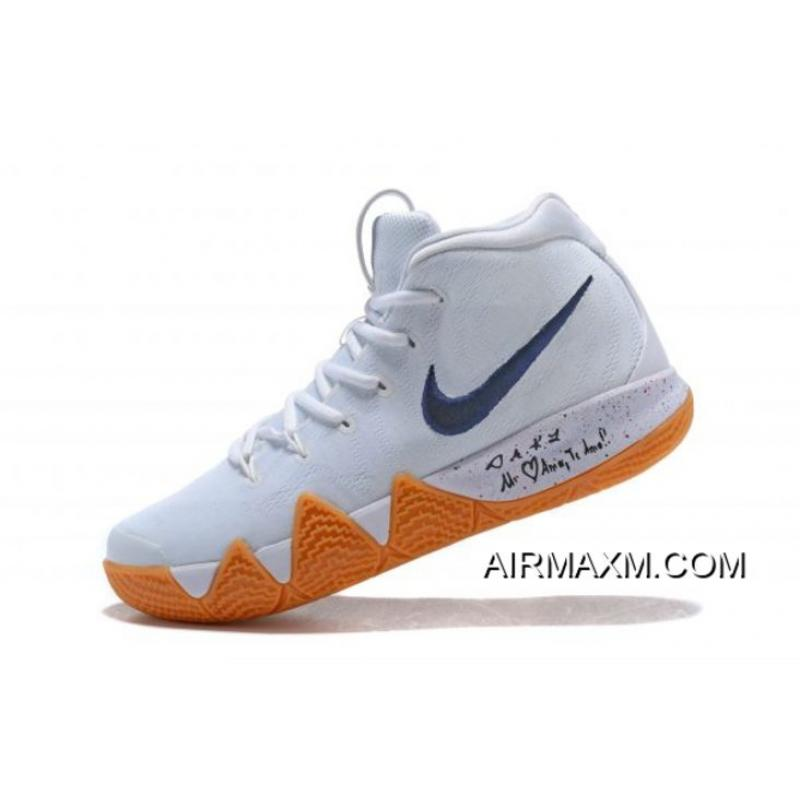 "503e8294d2ec New Release Nike Kyrie 4 ""Uncle Drew"" White Gum Men s Basketball Shoes  AQ8623- ..."