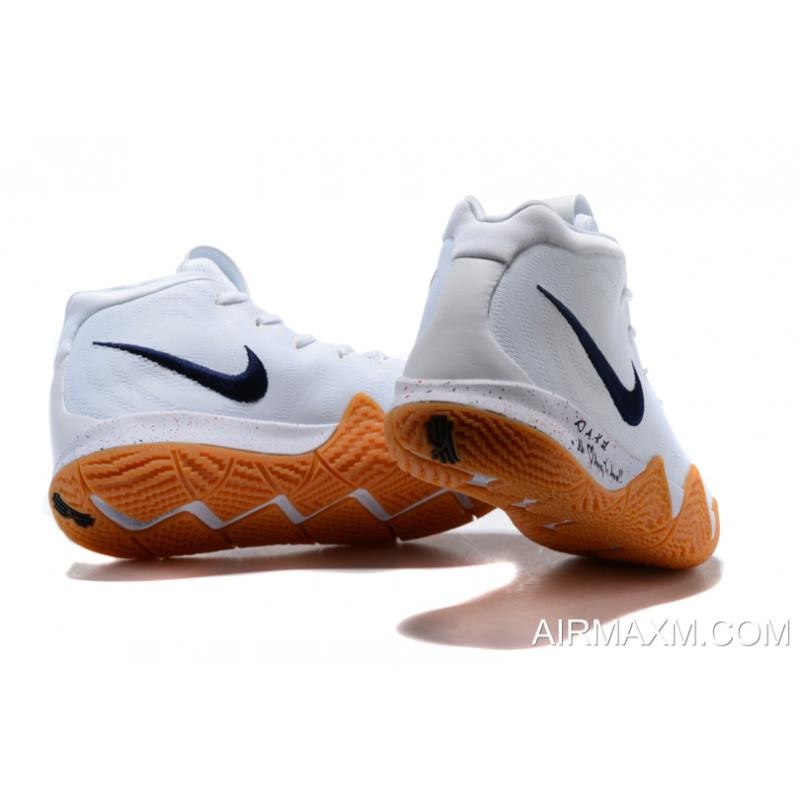 "huge selection of cbfec d6cc1 New Release Nike Kyrie 4 ""Uncle Drew"" White Gum Men's Basketball Shoes  AQ8623-001"