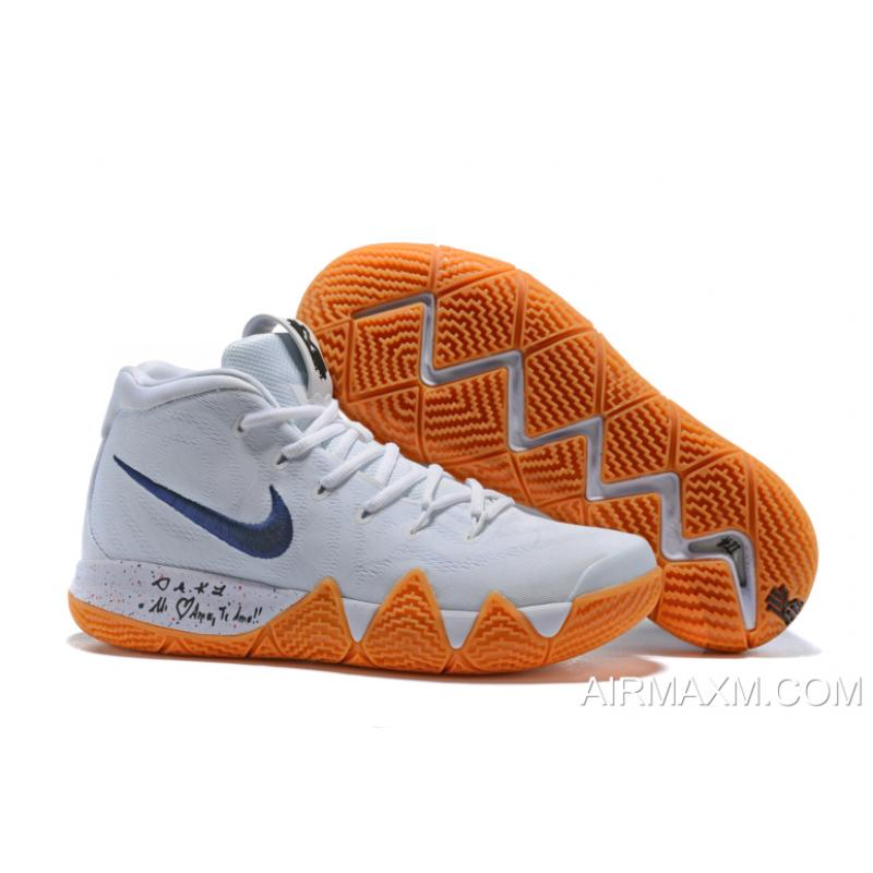"e3fbd995dce1 ... New Release Nike Kyrie 4 ""Uncle Drew"" White Gum Men s Basketball Shoes  AQ8623-"