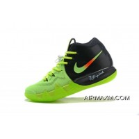 """Outlet Nike Kyrie 4 """"Neon"""" PE Black Volt Red Free Shipping"""