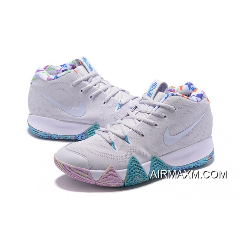 """110f96c22468 ... Latest Nike Kyrie 4 """"Easter"""" White Multicolor ..."""