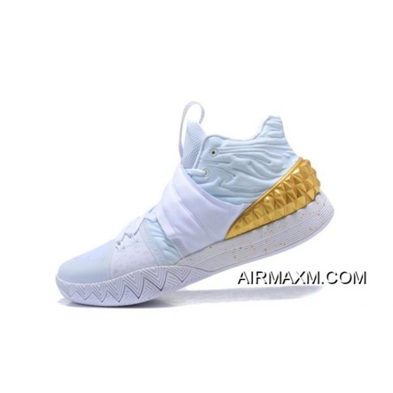 best loved 12cf4 5498b Discount Nike Kyrie S1 Hybrid WhiteMetallic Gold Mens Size Free Shipping  ...