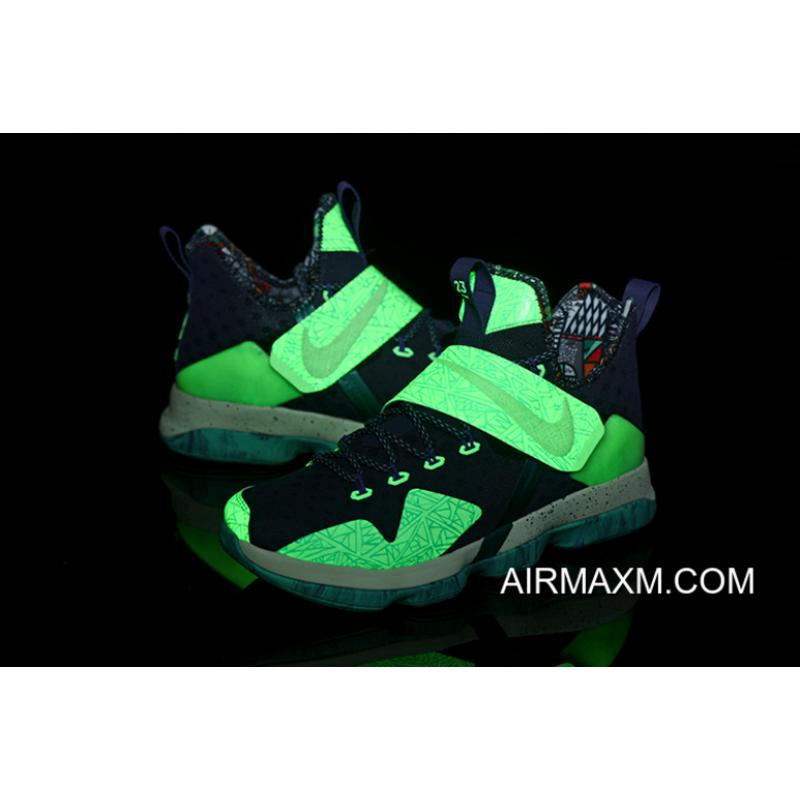 """e32964cd1f2a6d ... Buy Now Glow In The Dark Nike LeBron 14 """"All-Star"""" Men s Basketball ..."""