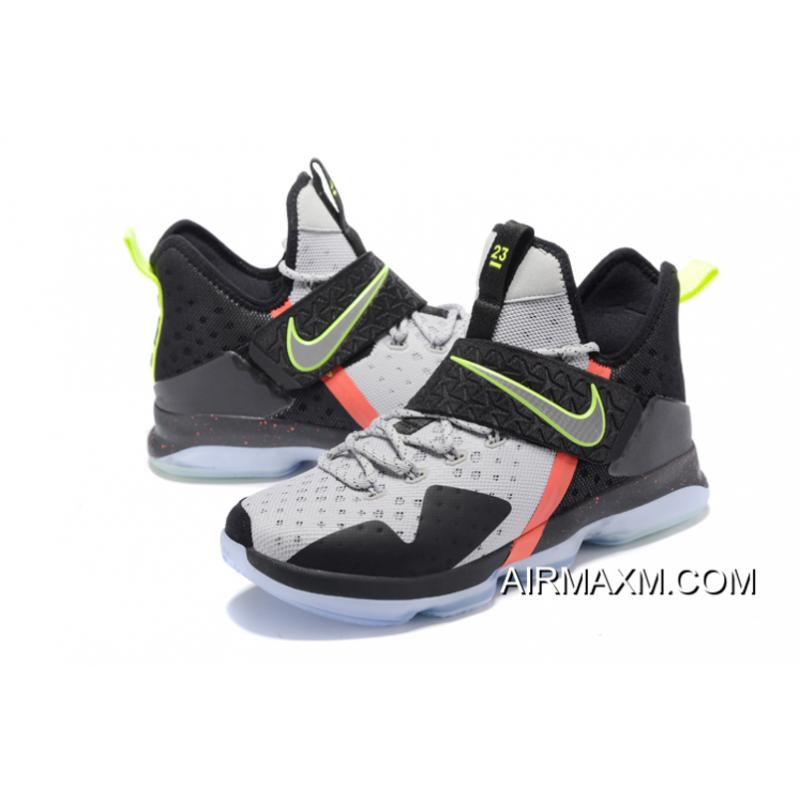 "04e59d6a28a3 Nike LeBron 14 ""Out Of Nowhere"" Wolf Grey Black-Volt-Bright Crimson ..."