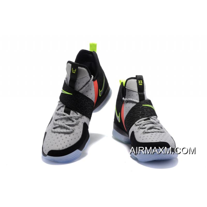 """32203d792ca Nike LeBron 14 """"Out Of Nowhere"""" Wolf Grey Black-Volt-Bright Crimson ..."""