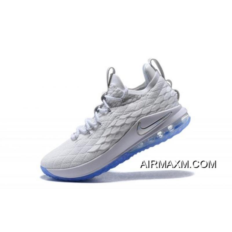 """promo code 7a946 710c7 Nike LeBron 15 Low """"White Ice"""" Men's Basketball Shoes Top Deals"""