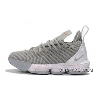 Nike LeBron 16 Wolf Grey/White-Red Men's Basketball Shoes Free Shipping Buy Now