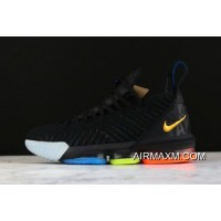 "Nike LeBron 16 ""I Promise"" Black/Multi-Color AO2595-004 Discount"