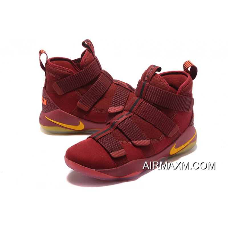 premium selection d1724 0726d ... Nike LeBron Soldier 11 Cavs PE Wine Red Gold For Sale ...