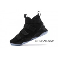 """Outlet Nike LeBron Soldier 11 """"Strive For Greatness"""" Black/Ice Blue 897646-001"""